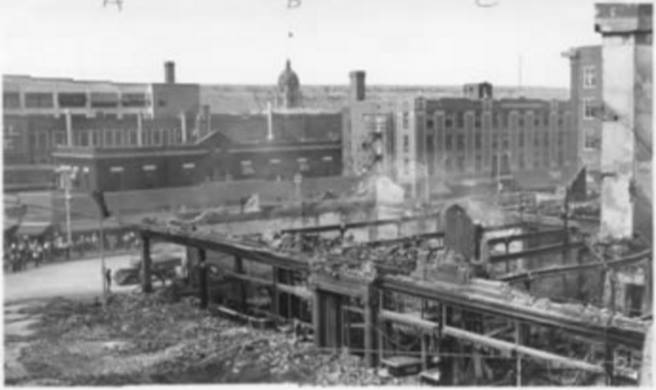 1940 aftermath of Northern Hotel Fire